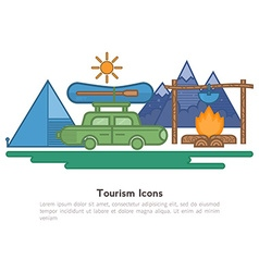 Tourism design elements for flyers vector image