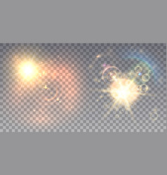 two summer lens flare vector image