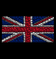 Uk flag pattern of flag icons vector