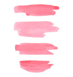 watercolor brush strokes pink aquarelle abstract vector image