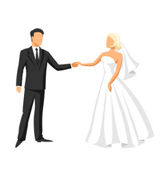 wedding bride and groom vector image