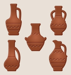 Wine pitchers vector