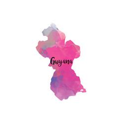 abstract guyana map vector image