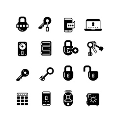 Key and lock web access security safe internet vector image