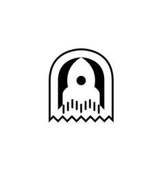 rocket icon logo template vector image vector image