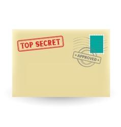 secret correspondence vector image vector image