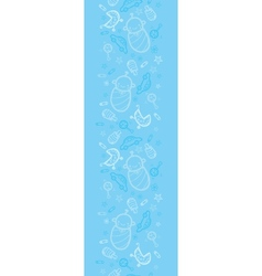 Baby boy blue vertical seamless pattern background vector image vector image