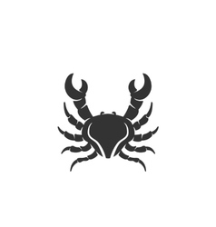 Crab icon isolated on white background vector image vector image