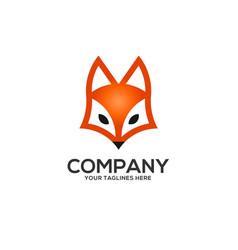 creative fox head logo vector image