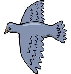dove in flight vector image