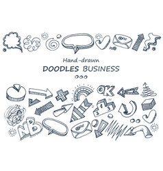 hand-drawn elements doodles collection vector image vector image