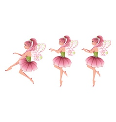 Pink Floral Fairy vector image