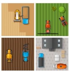Agricultural work set vector image