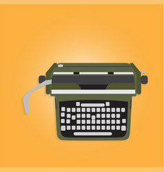 ancient typewriter vector image vector image