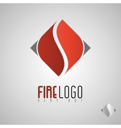 Flame logo template Oil and gas logo Fire vector image vector image