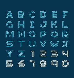 Maze tech letters linear style font Construction vector image vector image