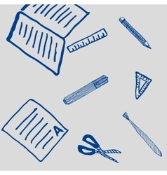school drawing and writing tools pattern vector image