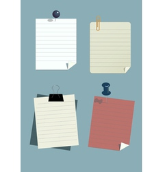 set of paper notes vector image vector image