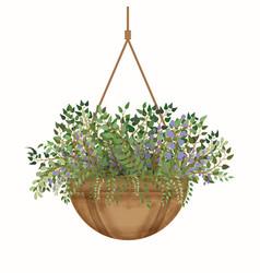 fresh spring green flowers pot eps vector image vector image