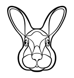 Head of a rabbit hare coloring vector image vector image