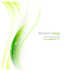 Abstract background with transparent green wavy vector