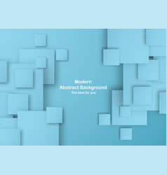 Abstract blue background in square shape with vector