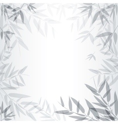 Abstract gray background with leaves vector image