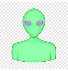 Alien icon cartoon style vector