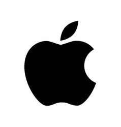 Apple logo icon black color on white background vector