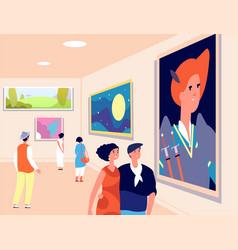 art museum modern artist exhibition contemporary vector image