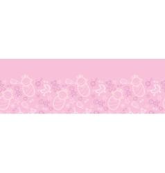 Baby girl pink horizontal seamless pattern vector