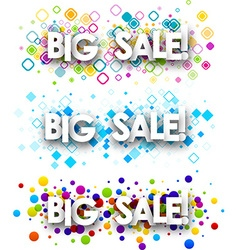 Big sale colour banners vector