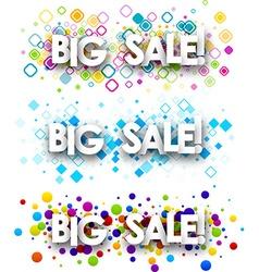 Big sale colour banners vector