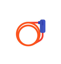 Bike lock icon flat vector