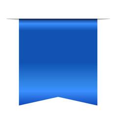 Blue bookmark banner 3d vertical book mark vector
