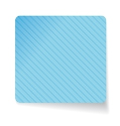 Blue paper sticker vector