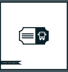 Bus ticket icon simple vector