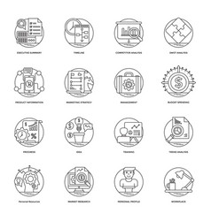 business line icons 2 vector image
