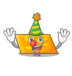 clown parallelogram mascot cartoon style vector image