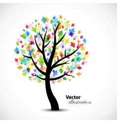 Colorful abstract oak tree vector image