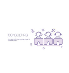 consulting team support technology concept banner vector image