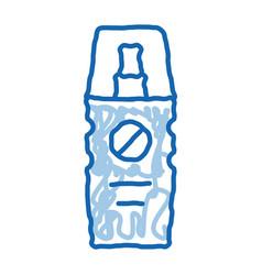 Cosmetic healthcare gel doodle icon hand drawn vector