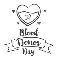 Doodle style blood donor day collection vector