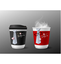 fathers day concept design of hot coffee cup and vector image