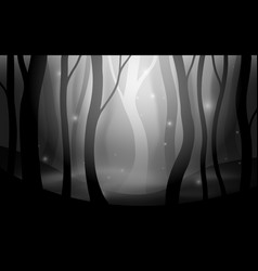 Forest fog dark spooky scene editable vector