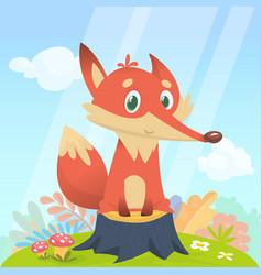 Fox isolated vector
