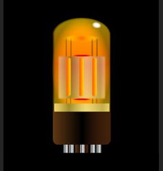 Glowing amplifier valve vector