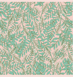 Gorgeous floral seamless pattern with acacia vector