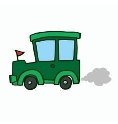 Green jeep kids t-shirt design vector
