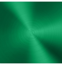 Green Metal background with realistic circular vector